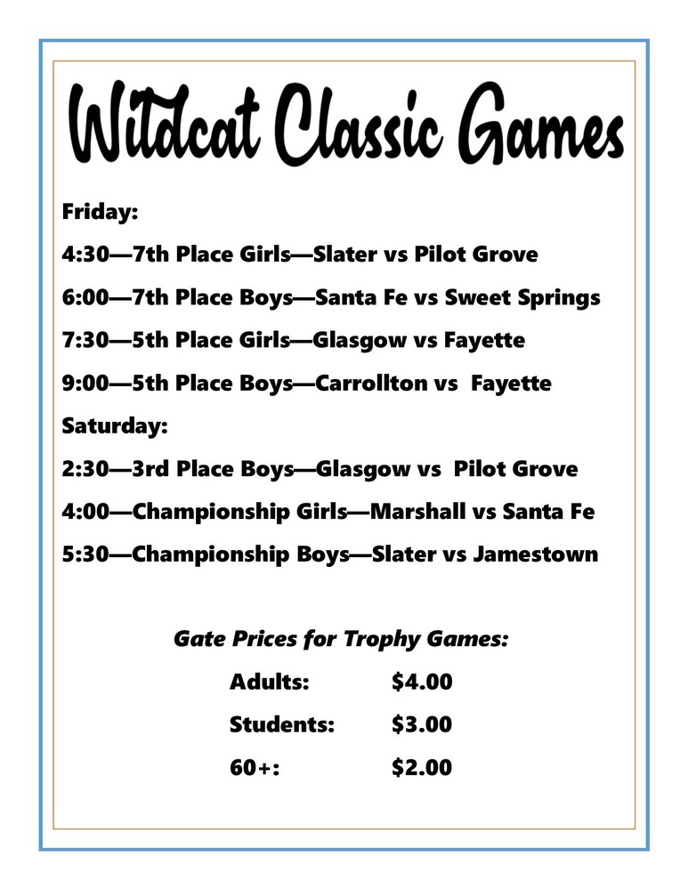 Wildcat Classic Trophy Games/Admission