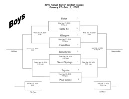 39th Annual Wildcat Classic Tournament Boys Bracket
