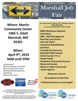Marshall Job Fair April 9th!