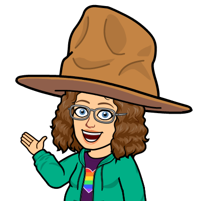 Cartoon of Ms. Pointer wearing a giant cowboy hat