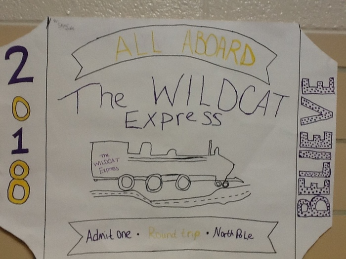 All aboard the Wildcat Express! held in the cafeteria at 1:30!
