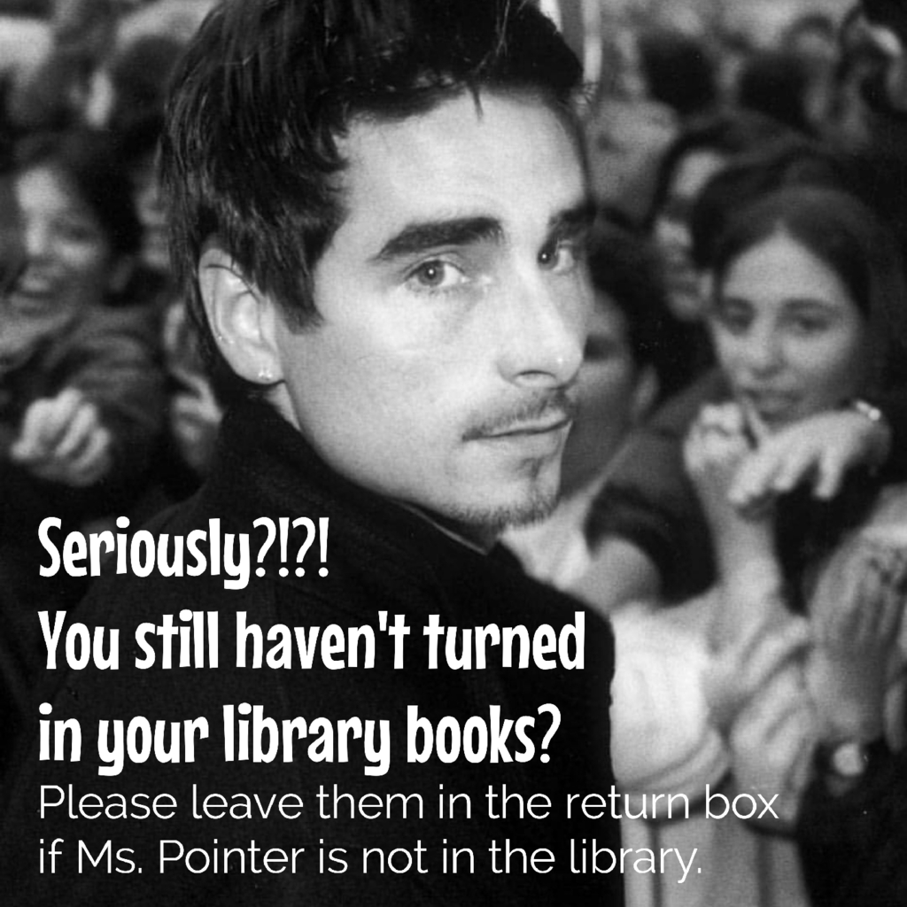 Please return library books.