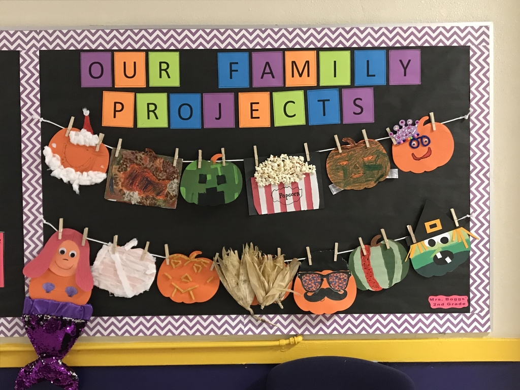 The October Family Projects of Mrs. Boggs' second graders are AWESOME!!